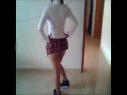 Chica de Puebla chupando en el Gym