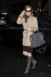 Jessica Chastain - arrives at the Walter Kerr Theatre in NYC 12/29/12