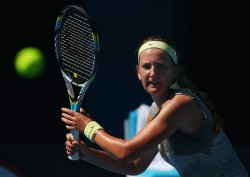 Victoria Azarenka - at a practice session in Melbourne 1/7/13