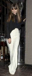 Jessica Biel - leaving the Dom Perignon &amp;amp; W Magazine celebrates the Golden Globes party in LA 1/11/13