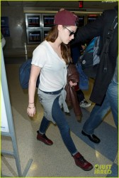 Kristen Stewart - at LAX Airport 1/12/13
