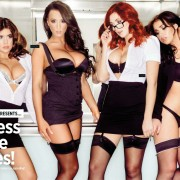 Gatas QB - Topless Office Babes Nuts | Kelly Hall, Stacey Poole, Lucy Collett e Geena Mullins | Nuts Magazine | 4 Janeiro 2013