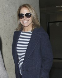 Katie Couric - arrives at LAX Airport 1/31/13