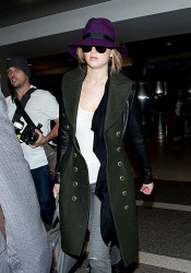 Jennifer Lawrence - at LAX Airport 2/7/13