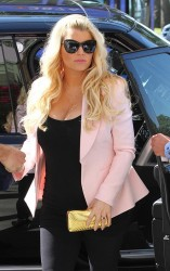 Jessica Simpson - out and about in Santa Monica 2/14/13