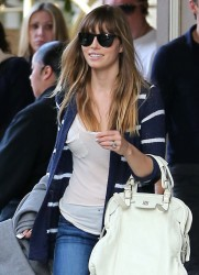 Jessica Biel - at the Four Seasons Hotel in Beverly Hills 2/15/13