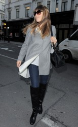 Jessica Biel - out shopping in London 2/19/13