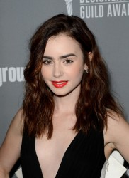 Lily Collins - 15th Annual Costume Designers Guild Awards in Beverly Hills 2/19/13