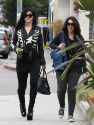 Kat Von D - Out with a friend in West Hollywood 3/5/13