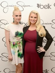 Jessica & Ashlee Simpson - at Belk Southpark in Charlotte 3/23/13