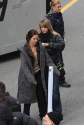 Minka Kelly - on the set of the new JJ Abrams pilot 'Human' in Vancouver 3/24/13