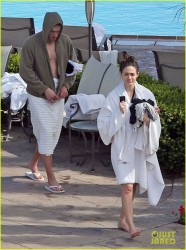 Emmy Rossum - at a hotel pool in Santa Barbara 3/24/13