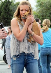 LeAnn Rimes - at a clothing drive in LA 3/30/13