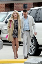 Jamie Lynn Spears - at Easter Sunday church services in Louisiana 3/31/13