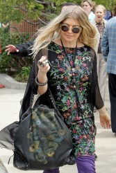 Fergie - Attending church in LA 3/31/13