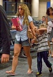 Britney Spears - at LAX Airport 4/1/13