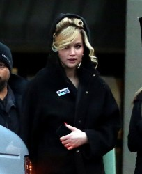 Jennifer Lawrence - on the set of David O. Russell project in Boston 4/3/13