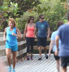 Cindy Crawford - out for a hike in Miami 4/4/13