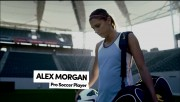 Alex Morgan in a commercial for Degree
