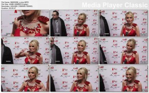 KRISTIN CHENOWETH cleavage - The Heart Truth Red Dress Collection 2010 - VIDEO - cleavage