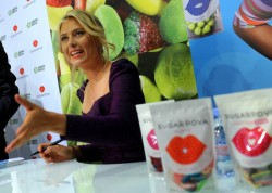 Maria Sharapova @ 'Sugarpova' candy launch in Moscow-4/29/13*ADDS*