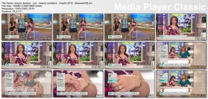 SHARON FAETSCH cleavage - qvc - may 24, 2010 - *legs, cleavage*