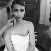 Emma Roberts Getting Ready For The Met Ball in New York City - May 6, 2013