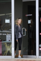 Ali Larter - leaves the gym in LA 5/7/13