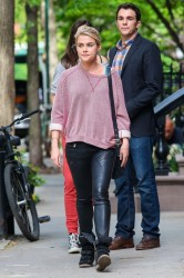 Rachael Taylor - On set of her upcoming movie in NYC 5/7/13