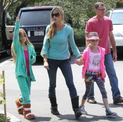 Denise Richards - Out with her family in LA 5/8/13