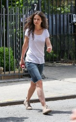 Katie Holmes - on the set of 'Mania Days' in NYC 5/14/13
