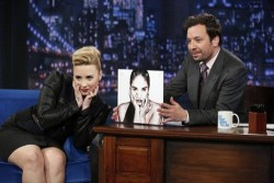 Demi Lovato - visits Late Night with Jimmy Fallon in NYC 5/15/13