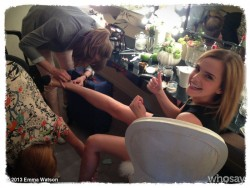 Emma Watson in Her Hair and Makeup Room in Cannes, France - May 16, 2013