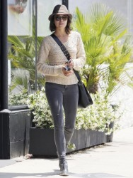 Nikki Reed - Arriving to a nail salon on her 25th birthday in LA 5/17/13