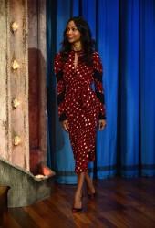 Zoe Saldana - On Late Night With Jimmy Fallon 5/17/13
