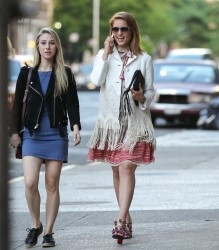 Dianna Agron - Out in SoHo 5/17/13