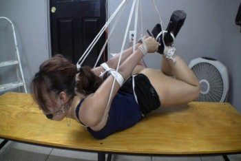 Suspended Hogtie Part 2 - Hogtied Like a Pro