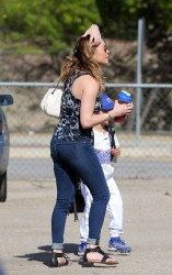 LeAnn Rimes - at a Little League game in Woodland Hills 5/20/13