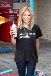 Ashley Benson - grabs a slurpee at 7-Eleven in LA 5/22/13