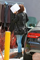 Vanessa Hudgens - Visiting a movie set in LA 5/23/13