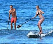 Ireland Baldwin Paddleboarding in Hawaii - May 26, 2013