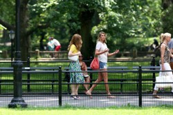 Kate Upton, Cameron Diaz & Leslie Mann - on the set of 'The Other Woman' in NYC 6/27/13
