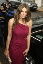 Elizabeth Hurley - leaves her home in London 6/27/13