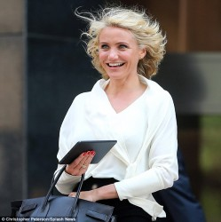 Cameron Diaz - on the set of 'The Other Woman' in NYC 6/29/13