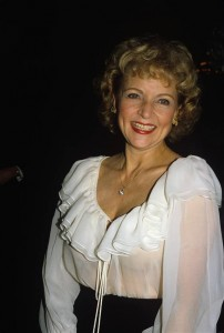 BETTY WHITE sheer to bra and cleavage