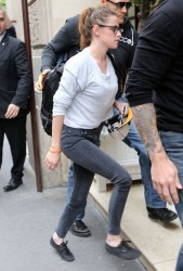 Kristen Stewart - arrives at her hotel in Paris 7/1/13