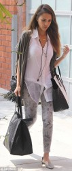 Jessica Alba - out in LA 7/1/13