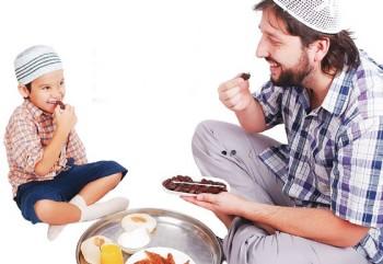 Ilustrasi makan sahur - Ist