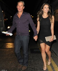 Elizabeth Hurley - out in Chelsea 7/19/13