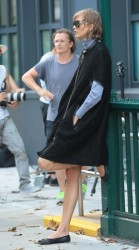 Karlie Kloss - on a photoshoot in NYC 7/19/13